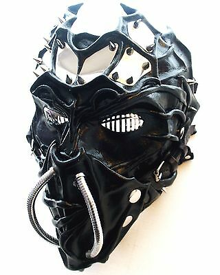 Wearable Leather Mask-Steampunk-GOTHIC-Metal Bands-Theatre-Handmade UK