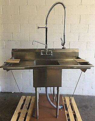 Rj Fabricators Stainless Steel  Ss Sink W/ 2 Drainboards Rj-1-1824-18D