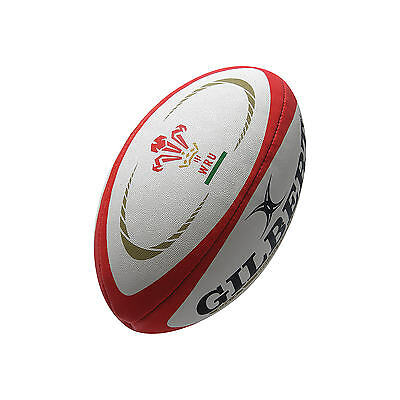 Clearance Line New Gilbert Wales Replica Training Rugby Ball- Size Midi