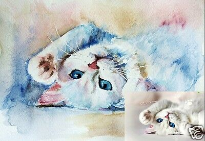 Custom Watercolor Portrait Of Your Pet A4 Size. Perfect Gift Christmas, Birthday