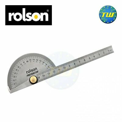 Rolson Stainless Steel Angle Finder Arm Ruler Protractor with Markings