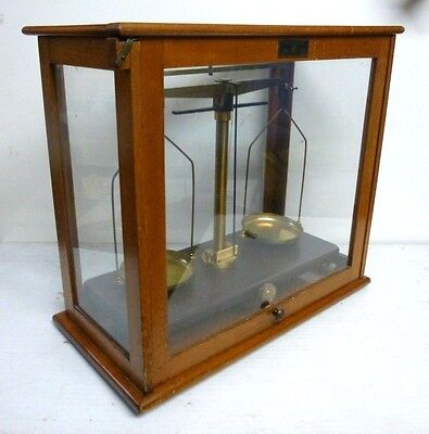 Vintage Griffin and Tatlock Glass Cased Balance Scales
