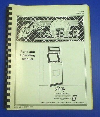 "ORIGINAL BALLY ""ROOTBEER TAPPER"" ARCADE Service Manual"