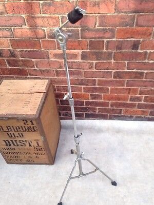 Free P&P. Pearl Black Label Straight Cymbal Stand for Drum kit. Some Rust.