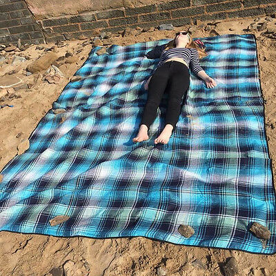 Out There! XL Picnic Mat / Rug, Jumbo Beach Blanket or Camping Mat 3m x 2.2m