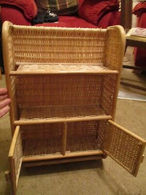 Wicker storage unit