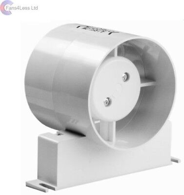 "Manrose ID150S ID150T Inline Fan Std Timer Model Bathroom Extractor Fan 6"" 150mm"