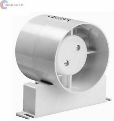"Manrose ID Inline Fan Standard or Timer Model Bathroom Extractor Fan 4"" 5"" 6"""