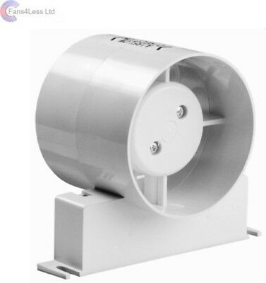 "Manrose ID100S ID100T Inline Fan Std Timer Model Bathroom Extractor Fan 4"" 100mm"