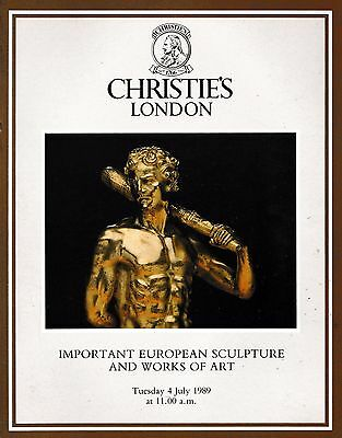 Highly Important European Sculpture &  Works Of Art Auction Catalogue