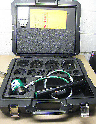 "NEW Greenlee 7310SB 1/2"" - 4"" Slug-Buster Ram and Hand Pump Hydraulic Driver Kit"
