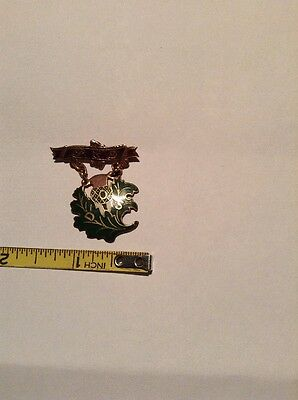 Vintage Order Of Scottish Clans 10K Gold Pin Medal Brooch Daughters Of Scotia