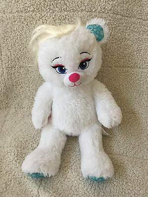 "BUILD A BEAR WORKSHOP Disney FROZEN Stuffed Plush White ELSA BEAR 17"" Braid Wig"