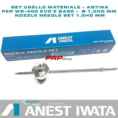 Set Ugello Materiale + Astina per Anest Iwata WS-400 - nozzle needle set 1.3HDmm