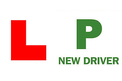 Pair of Fully Magnetic Car Just Passed New Driver P Plate & Learner L Plates Set