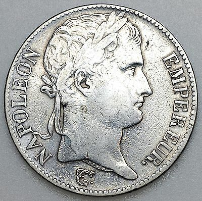 1815A Hundred Days France Silver 5 Francs Coin