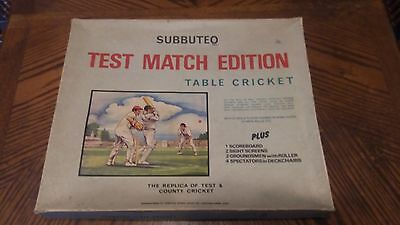 Subbuteo Test Match Cricket Complete Table Top Cricket Game 1970s
