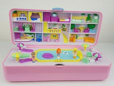 vintage polly pocket Pool Party Plays Set Figures 1989 excellent condition