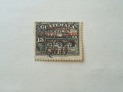 Guatemala stamp error, red/green double surcharge, C3a, Guatemala airmail 1929