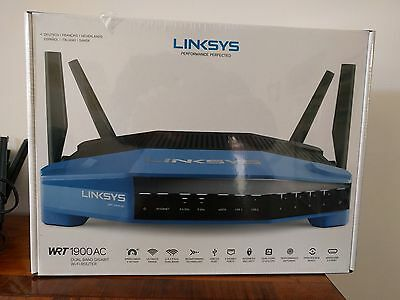 Linksys WRT1900AC-EJ Router Wireless, Nero/Blu