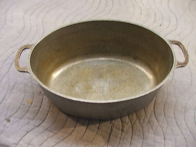 vintage club aluminum hammered cookware dutch oven oval 15 inch roaster no lid