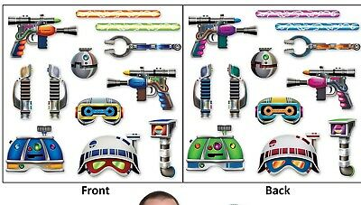 Space Guns Weapons Outerspace PHOTO FUN SIGNS PROPS Birthday Party Pictures