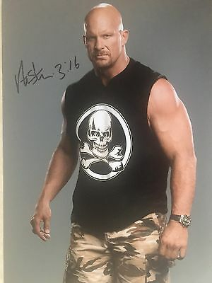 Wrestling Steve Austin Original Hand Signed Photo 12x8 With COA
