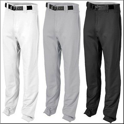 Rawlings Unhemmed Relaxed Fit Baseball Pants BPU350 White Black Gray