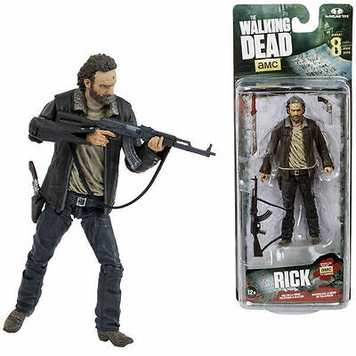 The Walking Dead TV Version Actionfigur Rick Grimes 13 cm Serie 8 NEU & OVP