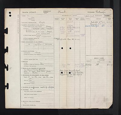 Ww1 Raf Royal Air Force Airmans Service Record - If No Record Found Refund Given