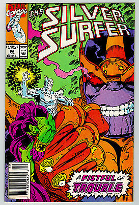Silver Surfer #44 Newsstand Variant 1st Infinity Gauntlet THANOS Movie Soon RARE
