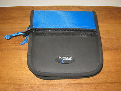 New 24 Ct Duracell Ultra Cd Wallet – Turquoise & Black W/ Zipper