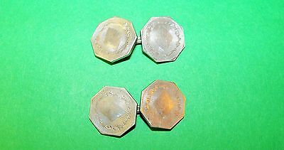 Vintage Sterling Cuff Buttons-Cuff Links-Ladies Cuff Buttons   (S)
