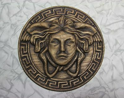 6 inches wood wall Decoration Medusa Gorgon Greek Myth Pendant Mask Wooden head