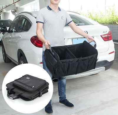 Suv Trunk Organizer  Multipurpose Cargo Foldable Storage  Box Bag Case Car Black