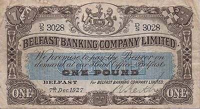 1927 £1 Banknote - Belfast Banking Co, Ltd.