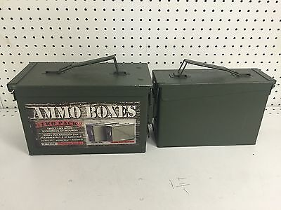 New Display Ammo Boxes Two Pack Cans .30 M19A1 .50 M2A1 Rounds Water Tight Save
