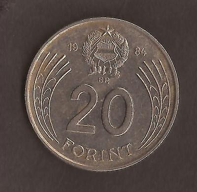 Hungary Coin 1984   20 Forint (2 x scans)