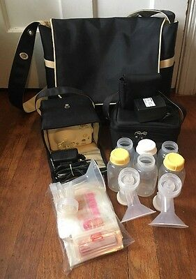 Medela Pump In Style Advanced Breast Pump W/ Diaper Bag & Accessories