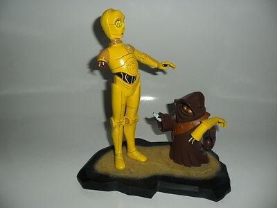 Star Wars - Animated Maquette C-3PO with Jawa