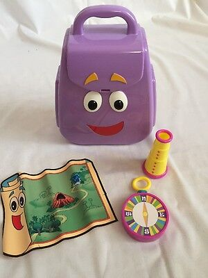Dora Explorer  Talking Backpack With Accessories Map Compass Telescope Camera