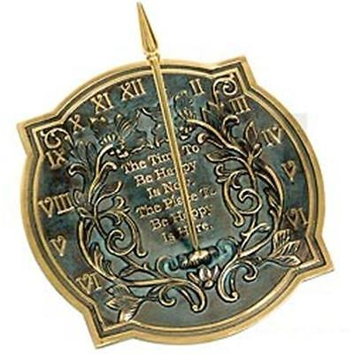 Rome Industries 2303 Brass Happiness Sundial