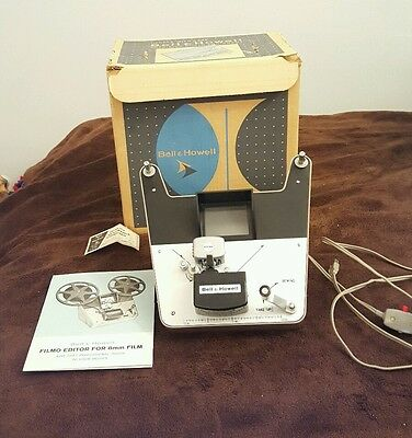 Vintage Bell & Howell 8mm Filmo Editor model 199 Mint in Box w/ instructions