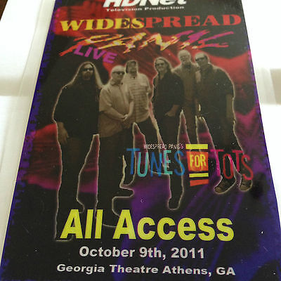 Widespread Panic All Access Backstage Pass laminate Athens Georgia October 2011