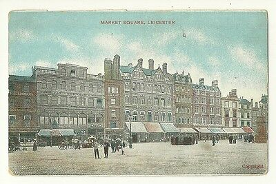 Leicester - a colour printed postcard of Market Square