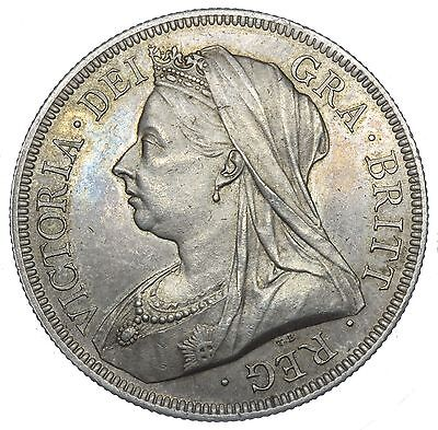 1893 Halfcrown - Victoria British Silver Coin - Superb
