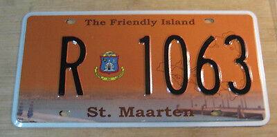 St. Maarten License Plate Expired R 1063