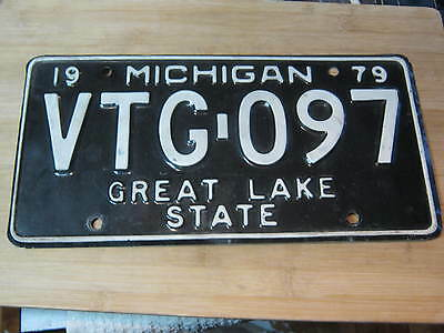 1979 Michigan License Plate Expired Vtg 097