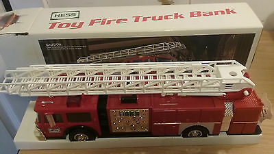 NEW IN BOX VINTAGE 1986 Hess Toy Fire Truck Bank