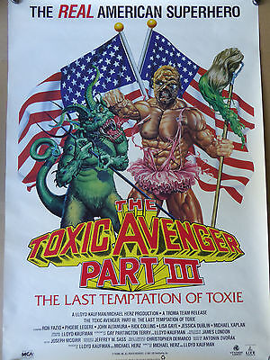 TOXIC AVENGER Part 3 movie poster - NEW - VERY RARE !!
